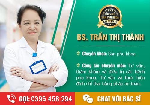 Phá thai tại Phòng khám tư nhân bác sĩ Trần Thị Thành
